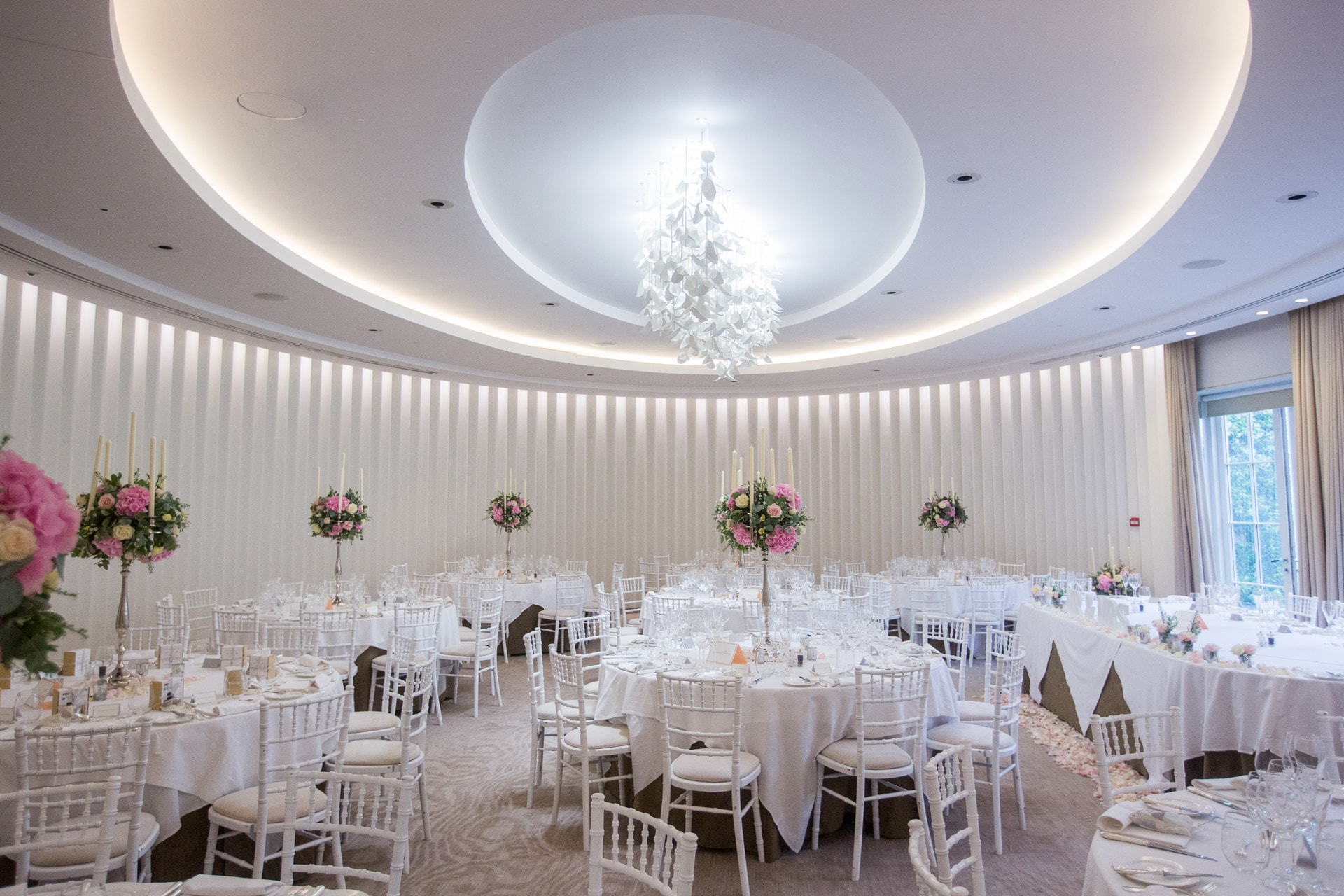 The Oval Room layout at Coworth Park
